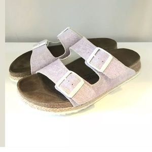 Birkenstock papillio sandals 38 purple Arizona